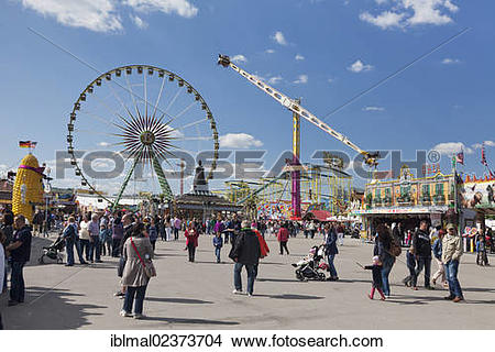 "Stock Photo of ""Cannstatter Wasen, Stuttgart Beer Festival, spring."