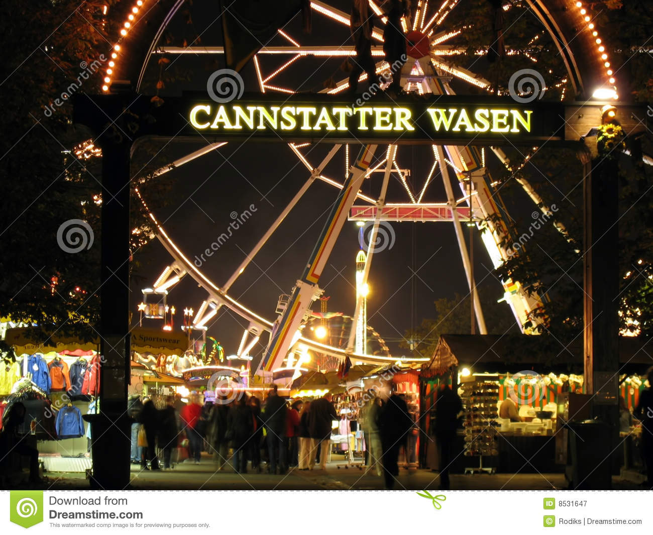 Cannstatter Wasen Main Gate Editorial Photography.