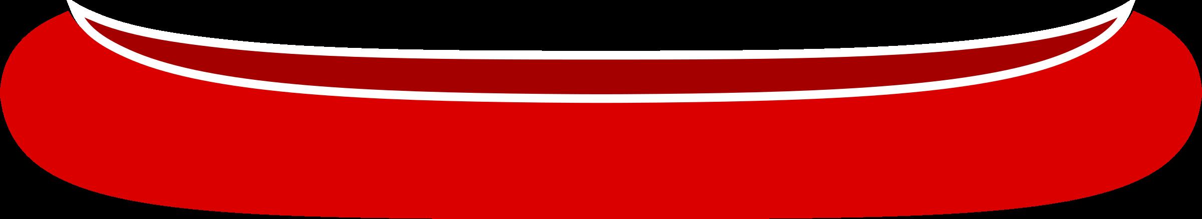 Red Canoe Clipart.