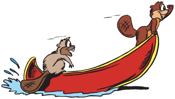 Funny Canoe Clipart.