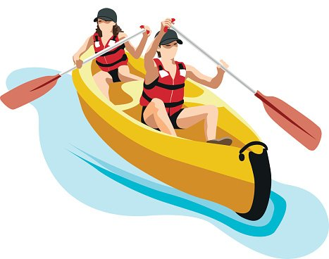 Canoe clipart kayak, Canoe kayak Transparent FREE for.