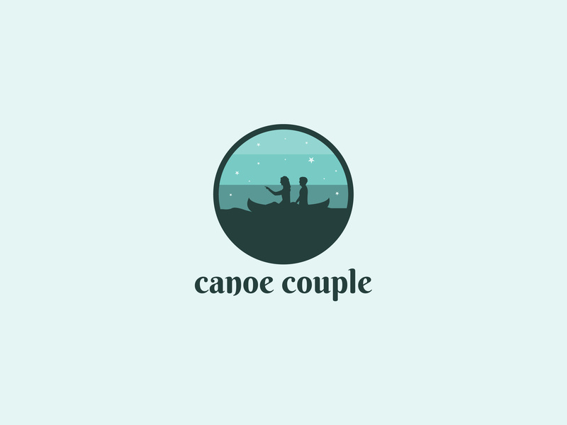 Canoe Couple Logo by Noman Sajjad Kiyani on Dribbble.