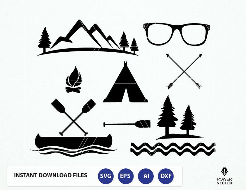 Canoe Silhouette Vector at Vectorified.com.