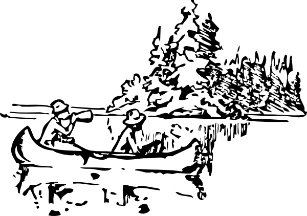 Canoeing clip art Free vector in Open office drawing svg ( .svg.