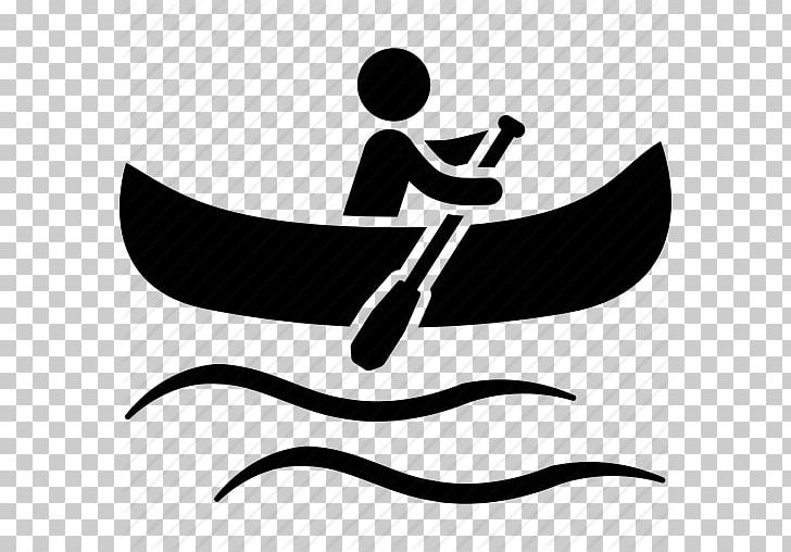 Canoeing Paddling Kayak Computer Icons PNG, Clipart, Black.