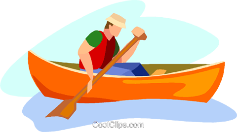 canoeist Royalty Free Vector Clip Art illustration.
