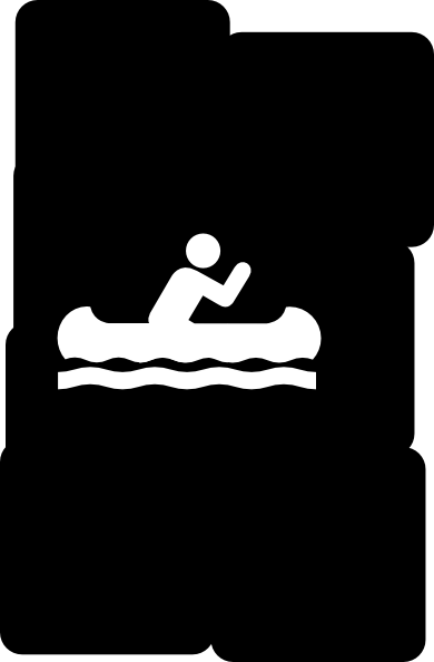 Black Canoe Background Clip Art at Clker.com.