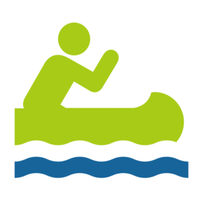 Canoe trip clipart.
