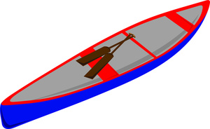 Canoes Clipart Image.