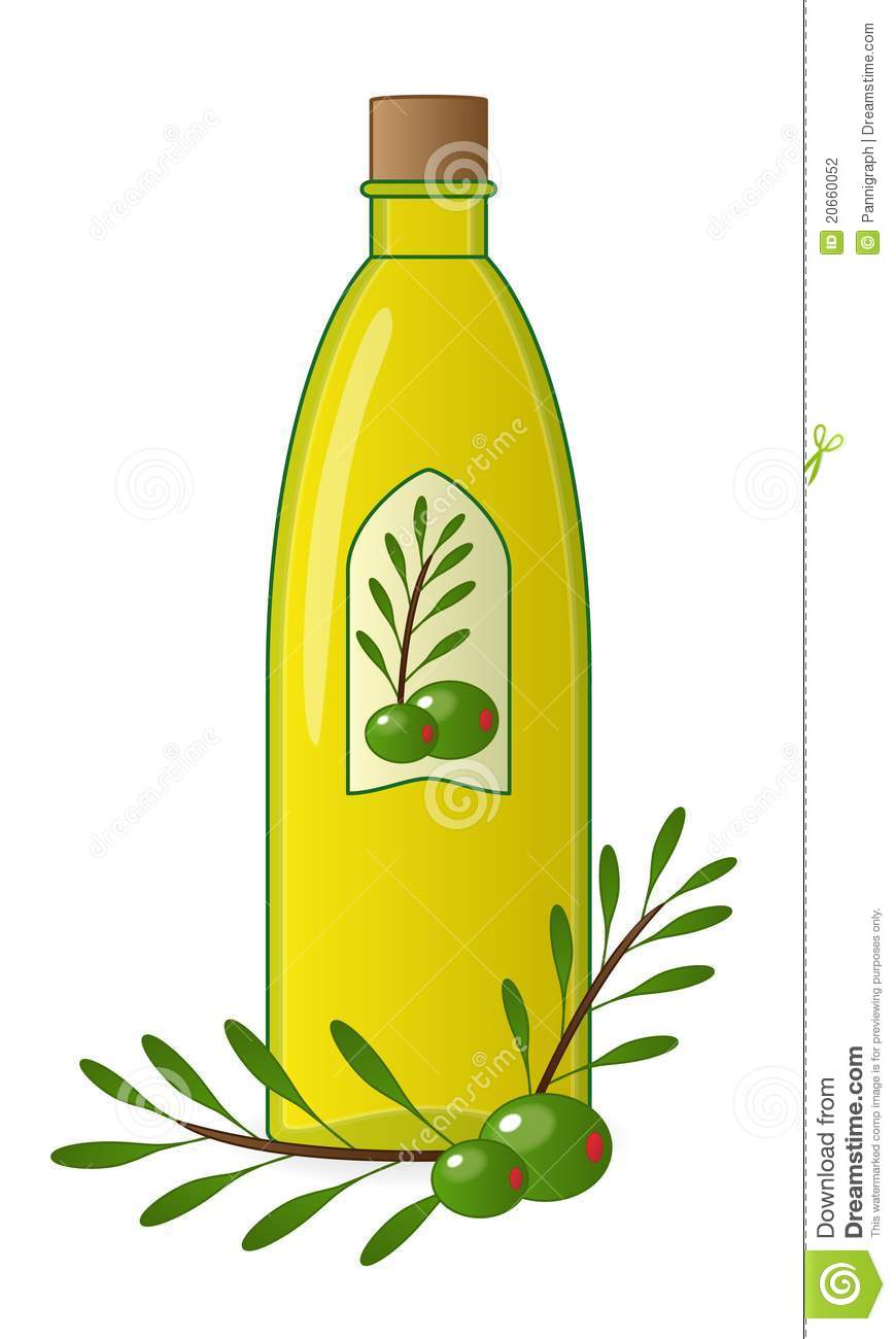 Bottle of oil clipart.