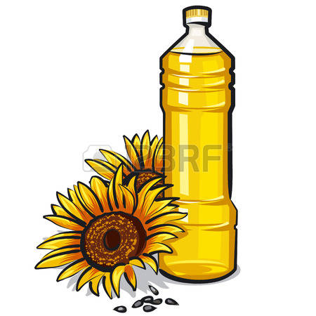 Canola oil clipart.