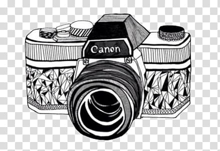 Doodles and Drawing , black and white Canon camera.