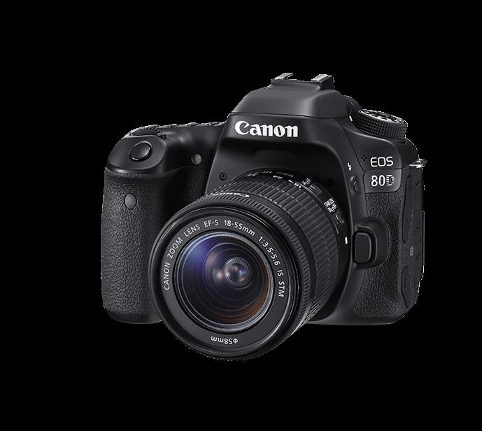 Canon 80D DSLR Camera PNG Transparent Images (18).