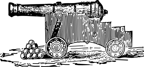Cannon clip art Free vector in Open office drawing svg ( .svg.