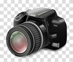 Camera Icon, Camera Regular Lens_x, Canon EOS D transparent.