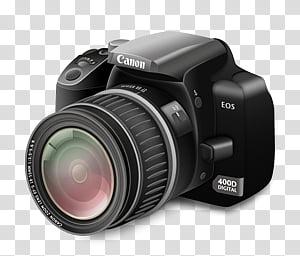 Camera Icon, Camera Regular Lens_x, Canon EOS D transparent.