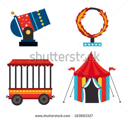 Circus Cannon Stock Images, Royalty.