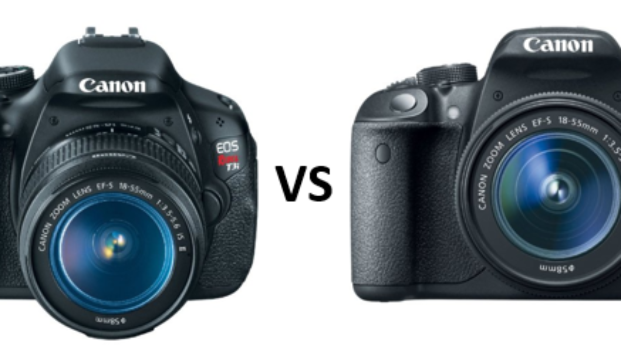 The Canon T3i vs T5i.