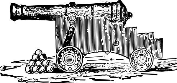 Cannon Clip Art at Clker.com.