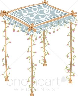Chuppah Wedding Canopy Clipart.
