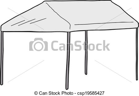 Vector Illustration of Large Car Canopy Tent.