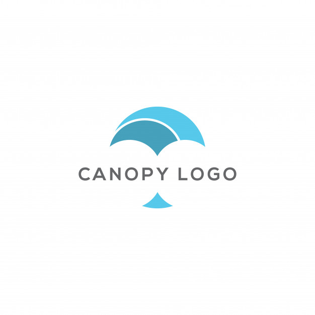 Abstract canopy logo design vector Vector.