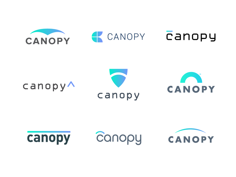 Canopy Cyber Security Logo Design Concepts by Jacob Cass on.