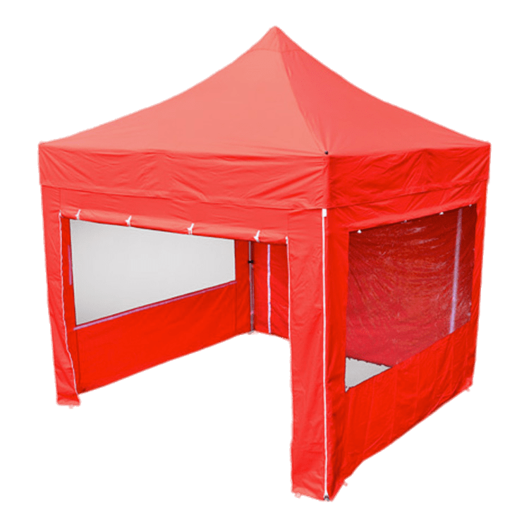 Red Garden Canopy With Windows transparent PNG.
