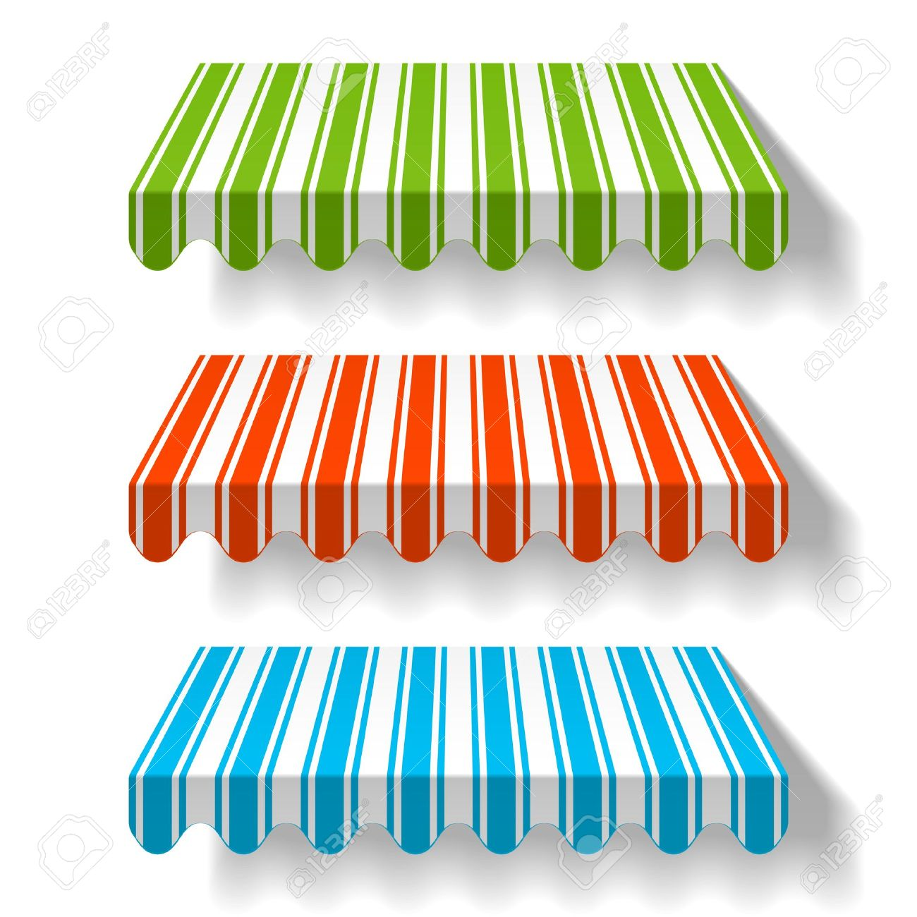 Colorful Awnings Royalty Free Cliparts, Vectors, And Stock.