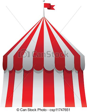 Clipart Vector of Circus tent.
