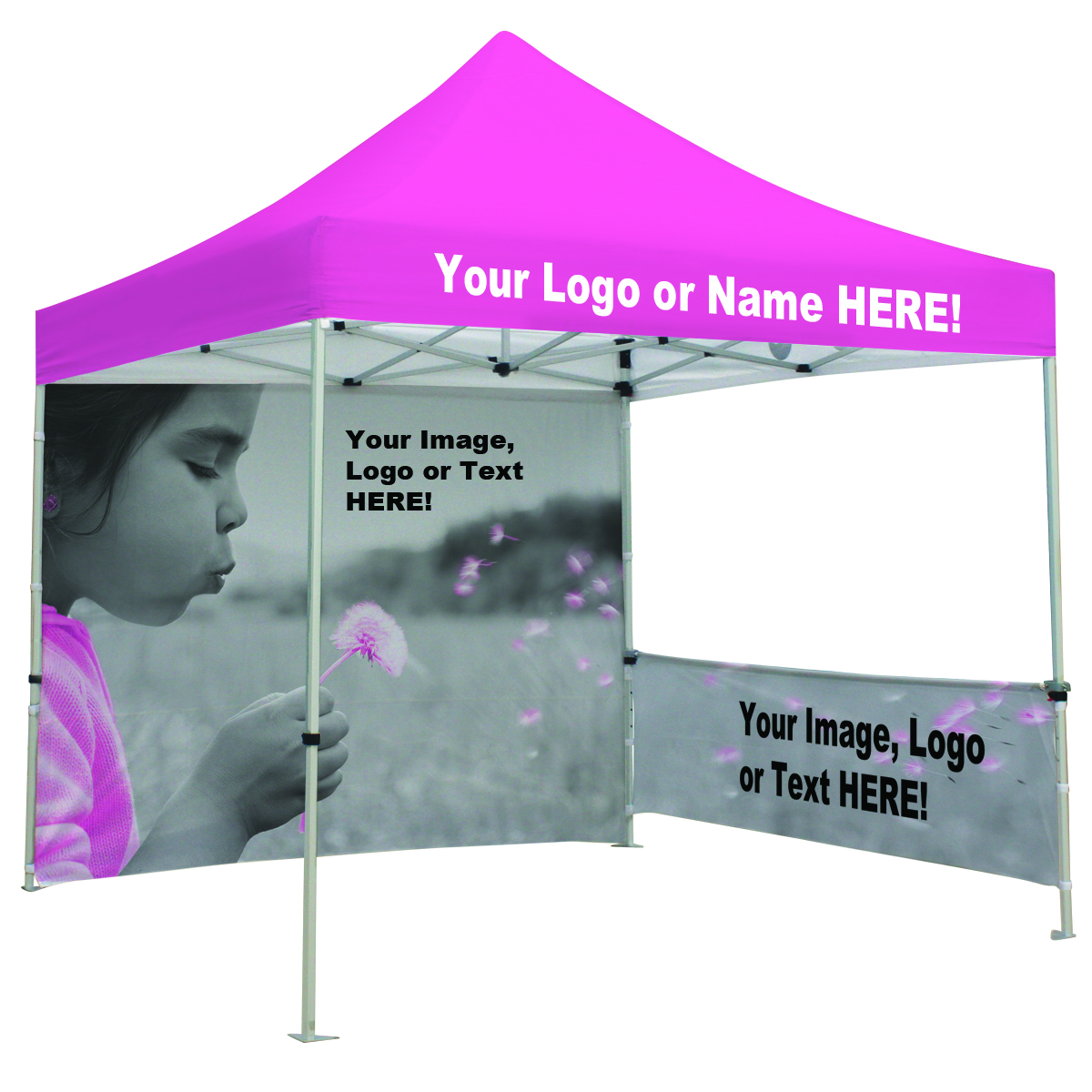 custom canopy banner.