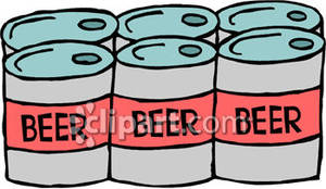 Six pack beer clipart.