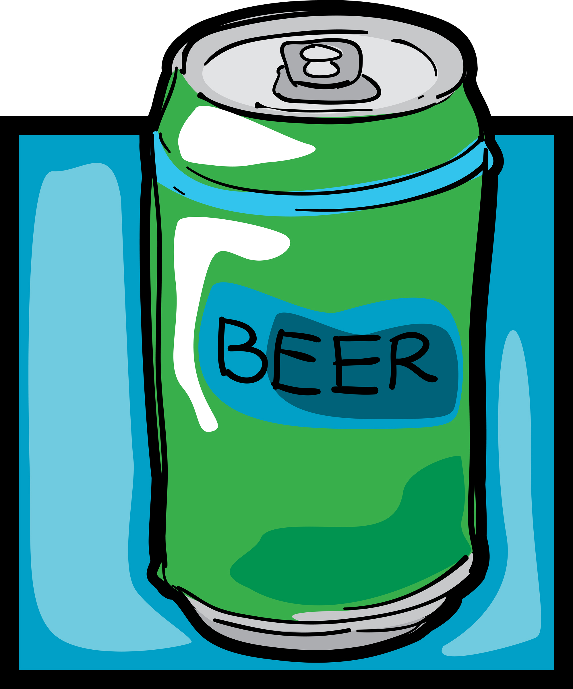 Beer cans clipart.