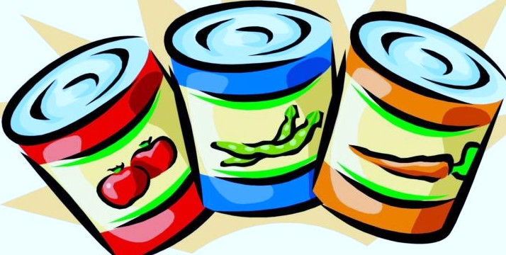 Food cans clipart.