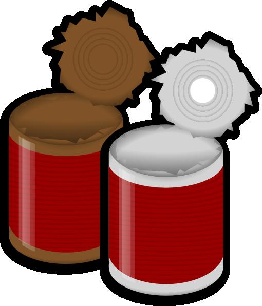 Cans clip art.