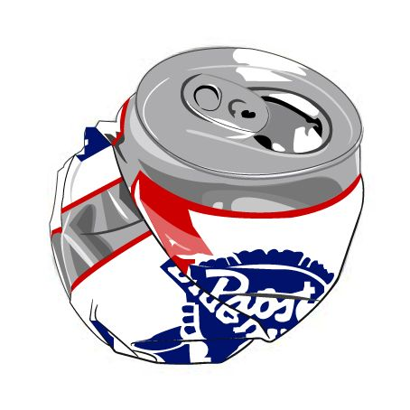 Crushed cans clipart.