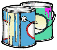 Free Paint Cans Clipart.