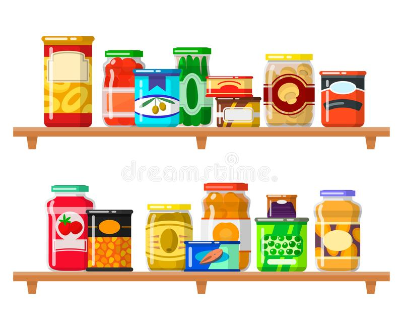 Canned Food Stock Illustrations.