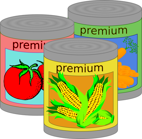 Food cans.