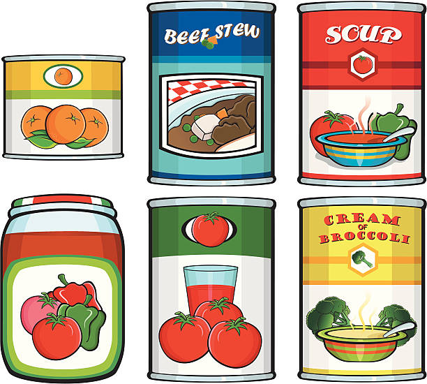 Best Canned Food Illustrations, Royalty.