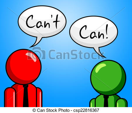 Stock Illustration of Can't Can Represents Within Reach And.