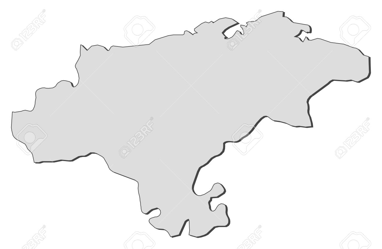 Map Of Cantabria, A Region Of Spain. Royalty Free Cliparts.