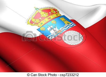 Clip Art of Flag of Cantabria. Close up. csp7233212.