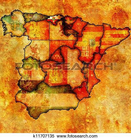 Stock Illustration of region of cantabria k11707135.