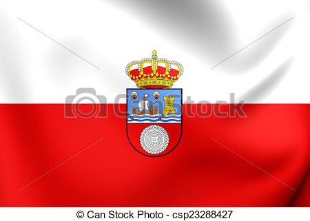 Clip Art of Flag of Cantabria, Spain. Close Up. csp23288427.