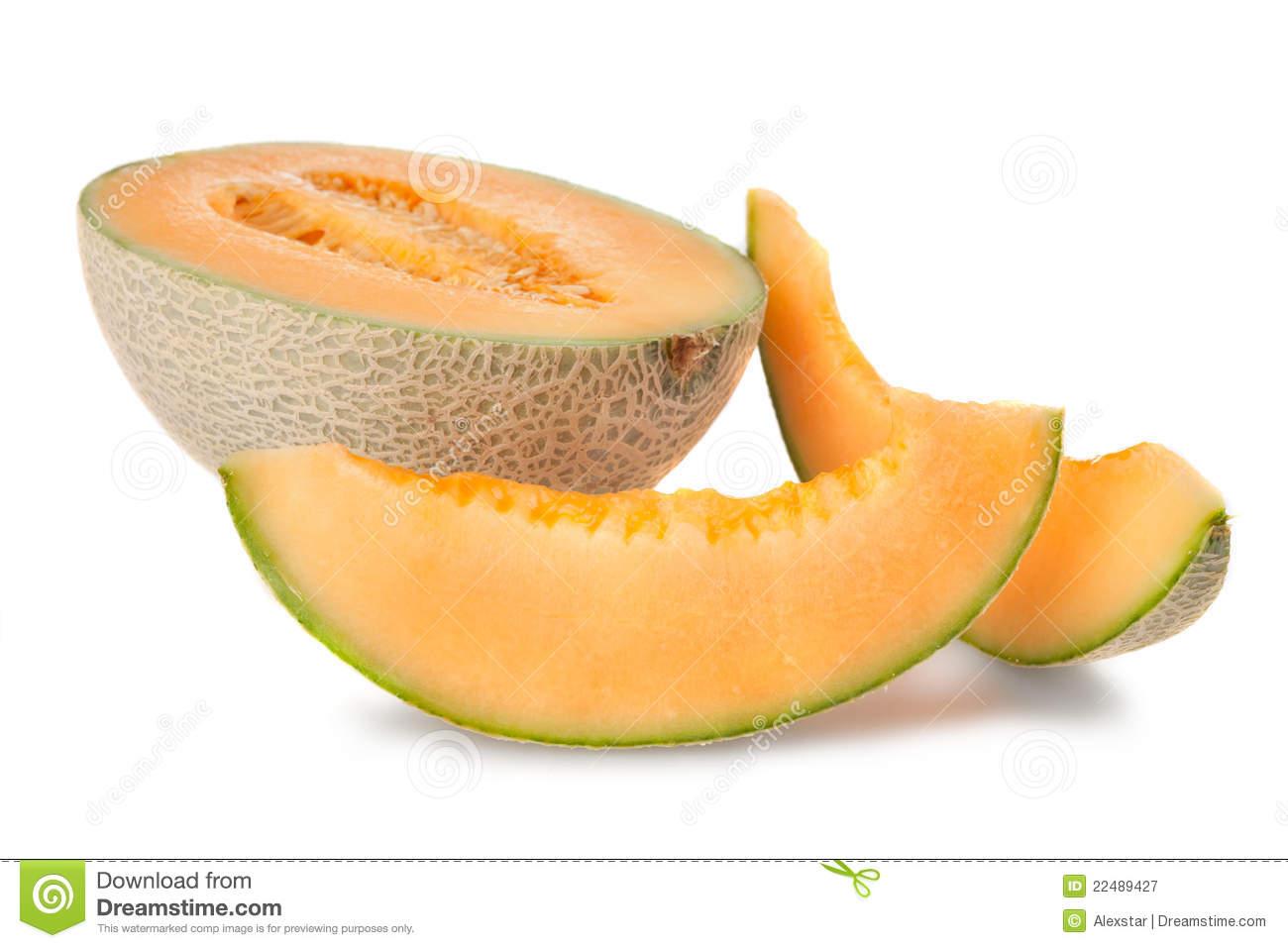 Cantaloupe Slices Clipart.