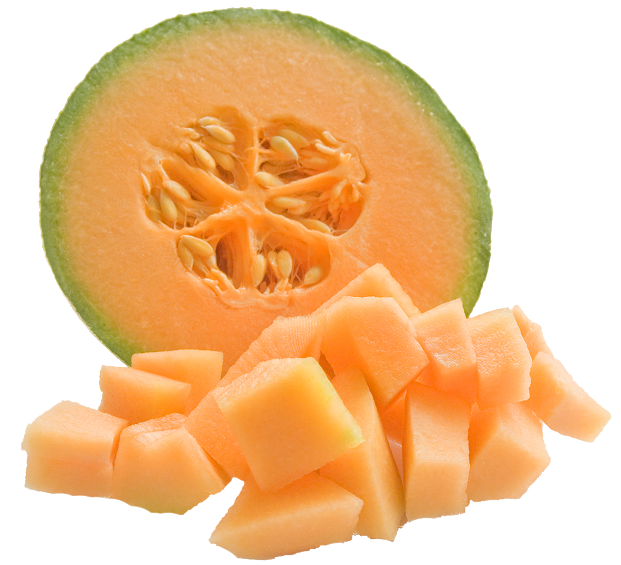 Cantaloupe Melon PNG Clipart.