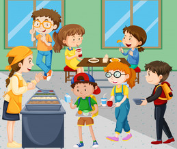 Download canteen cartoon clipart Cafeteria.