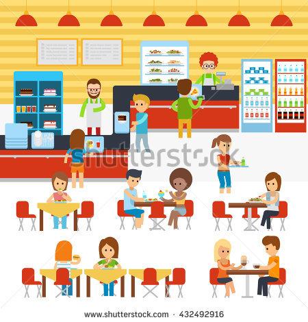School Canteen Stock Vectors, Images & Vector Art.