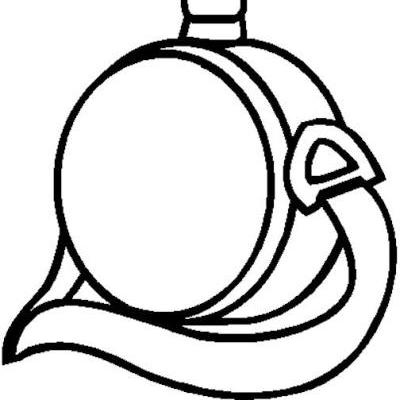 Canteen Black And White Clipart.